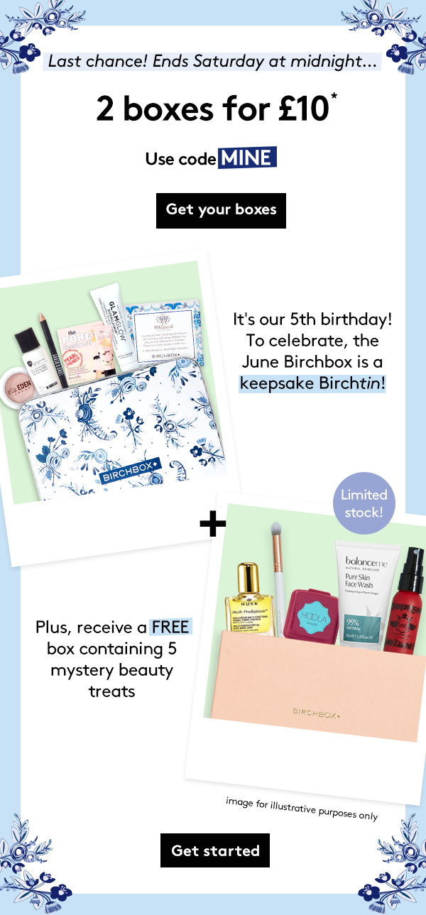 Love Birchbox Get The UKs No1 Beauty Box