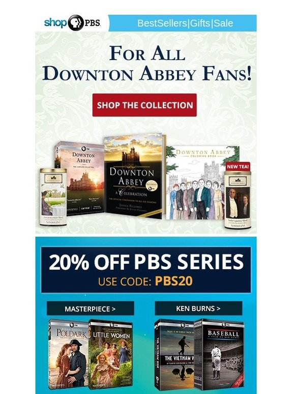 ShopPBS.org: Downton Abbey Fans – New Gifts Added to Our Collection | Milled