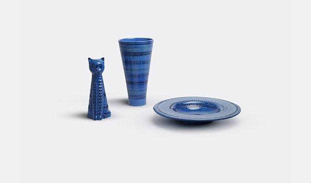 'Rimini blu'  Designed by Aldo Londi For Bitossi Ceramiche