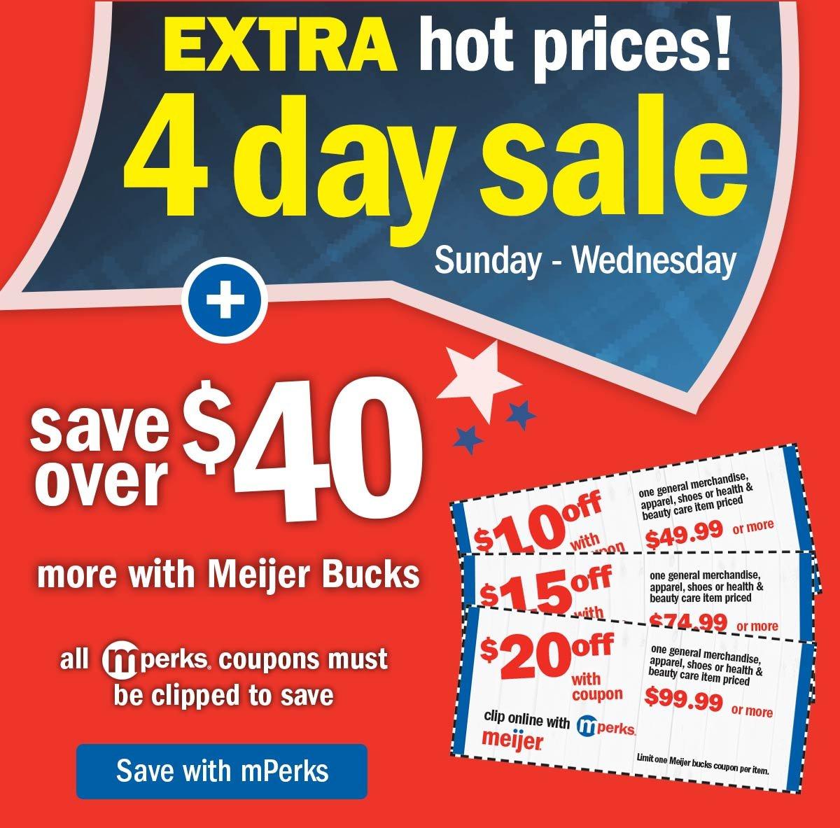 meijer meijer bucks are back for the 4th milled