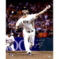"Madison Bumgarner San Francisco Giants Fanatics Authentic Autographed 16"" x 20"" 2014 World Series Photograph with 14 WS MVP Inscription"