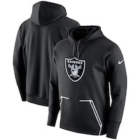 Oakland Raiders Nike Champ Drive Vapor Speed Performance Pullover Hoodie - Black