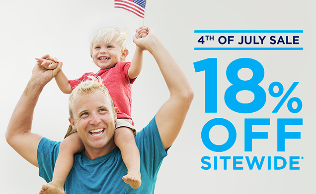 4TH OF JULY SALE 18% OFF SITEWIDE