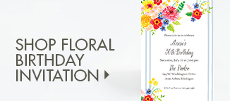 Shop Floral Birthday Invitation!