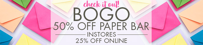 BOGO 50% Off Paper Bar