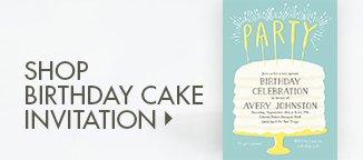 Shop Birthday Cake Invitation!
