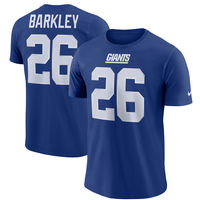 Saquon Barkley New York Giants Nike Dri-FIT Player Pride 3.0 Name & Number T-Shirt  Royal
