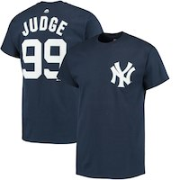 Aaron Judge New York Yankees Majestic Official Name & Number T-Shirt - Navy
