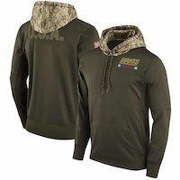 New York Giants Nike Salute to Service Sideline Therma Pullover Hoodie  Olive