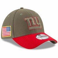 New York Giants New Era 2017 Salute To Service 39THIRTY Flex Hat  Olive