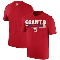 New York Giants Nike Sideline Legend Staff Performance T-Shirt - Red