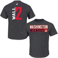 John Wall Washington Wizards Vertical Name & Number T-Shirt - Gray