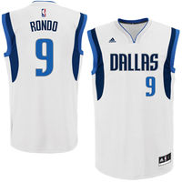 Rajon Rondo Dallas Mavericks adidas Home Replica Jersey - White