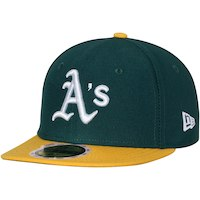 Oakland Athletics New Era Youth Authentic Collection On-Field Home 59FIFTY Fitted Hat - Green/Yellow