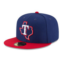 Texas Rangers New Era Game Diamond Era 59FIFTY Fitted Hat - Navy/Red
