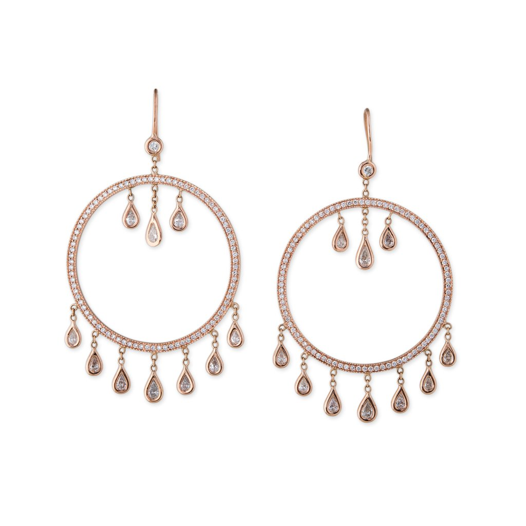 Image of Large Diamond Dream Catcher Earrings