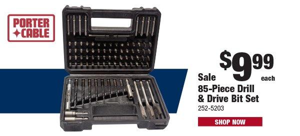 Porter Cable 85-Piece Drill & Drive Bit Set