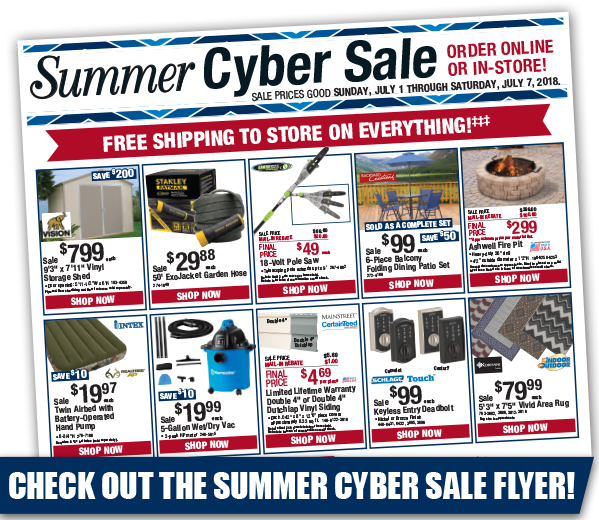 Summer Cyber Sale