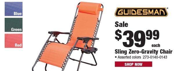 Guidesman Sling Zero-Gravity Chair
