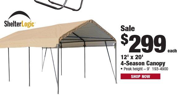 Shelterlogic 4-Season Canopy