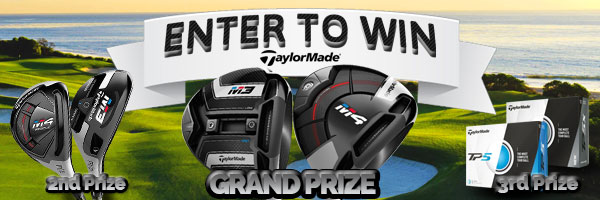 Enter to WIN a FREE TaylorMade M3/M4 Driver, TaylorMade M3/M4 Rescue Hybrid or 3 Dozen TaylorMade TP5 Golf Balls!