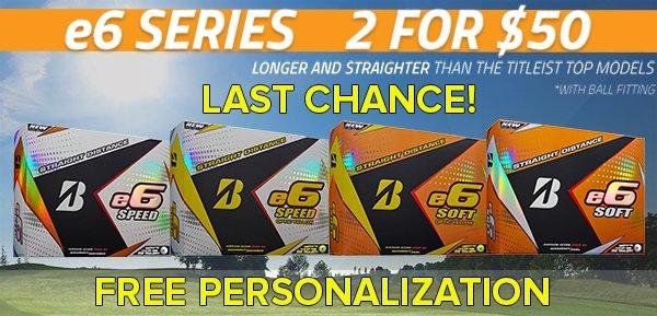LAST CHANCE:Bridgestone e6 Series Balls