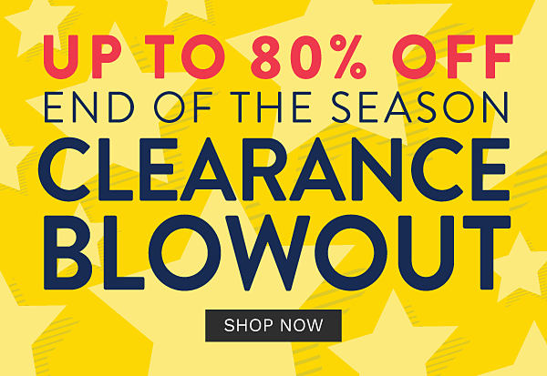 up to 80% off. End of the season clearance blowout. Shop now.