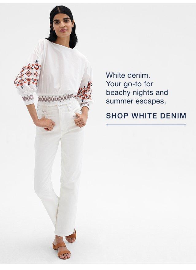 SHOP WHITE DENIM