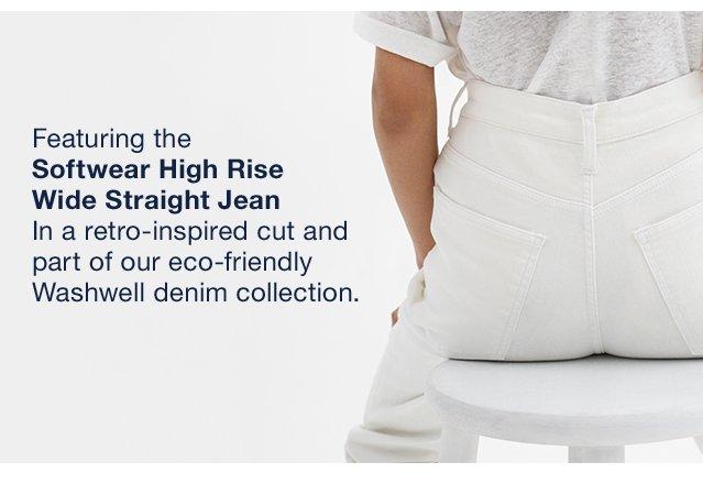 Softwear High Rise Wide Straight Jean