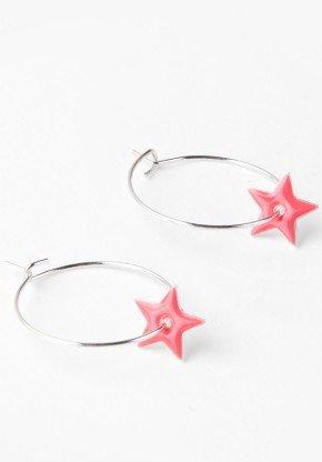 Hoop Star Earrings, 20