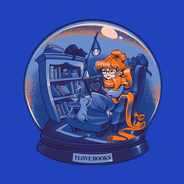 https://teefury.com/products/i-love-books-and-cats