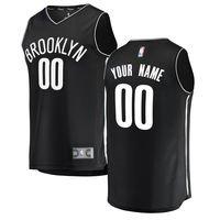 Men's Brooklyn Nets Fanatics Branded Black Fast Break Custom Replica Jersey - Icon Edition