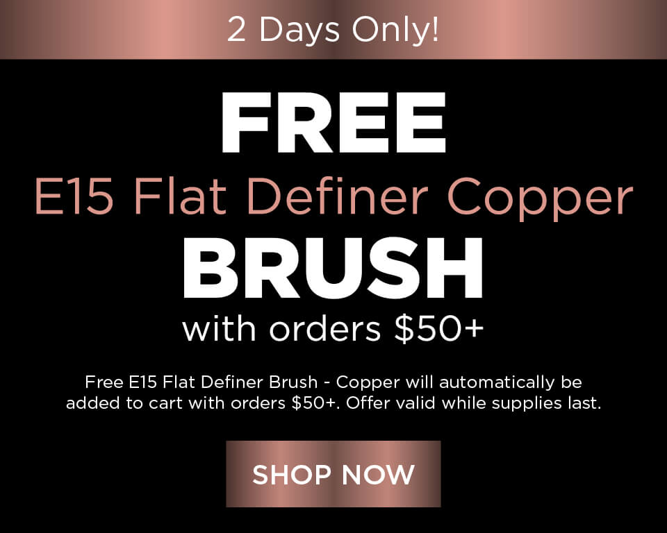 Free E15 Flat Definer Brush - Copper with orders $50+