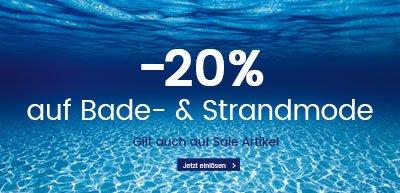 -20% auf Bade- & Strandmode