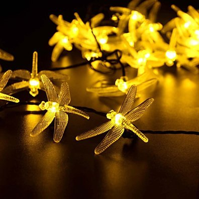 Solar Powered Firefly LED Twinkle String Lights