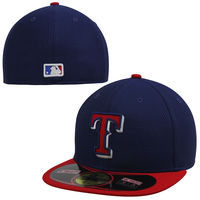 Texas Rangers New Era On Field Diamond Era 59FIFTY Fitted Hat - Navy/Red