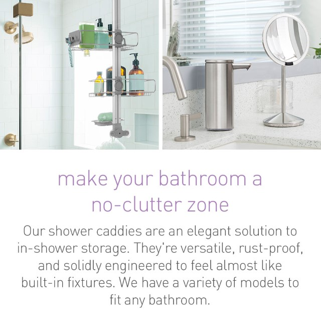 make your bathroom a no-clutter zone
