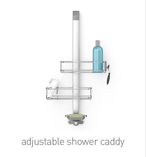 adjustable shower caddy
