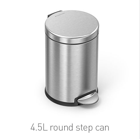4.5L round step can