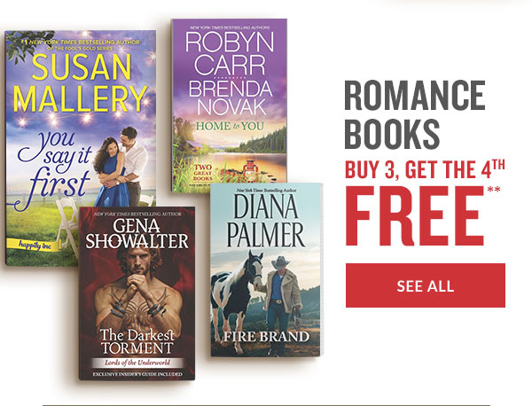 ROMANCE BOOKS BUY 3, GET THE 4TH FREE** | SEE ALL