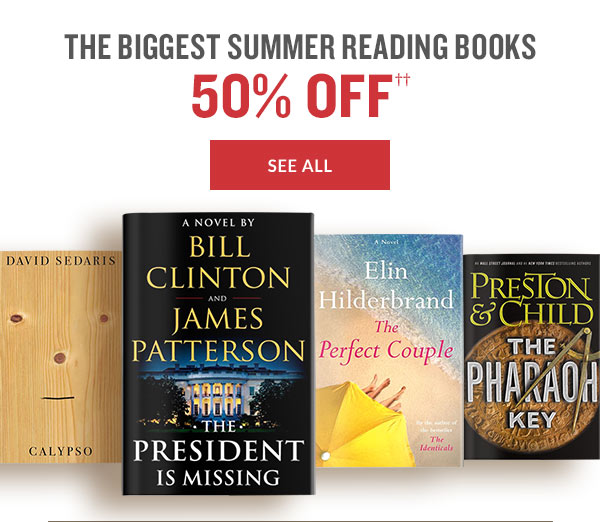 THE BIGGEST SUMMER READING BOOKS 50% OFF | SEE ALL