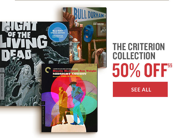 THE CRITERION COLLECTION 50% OFF | SEE ALL