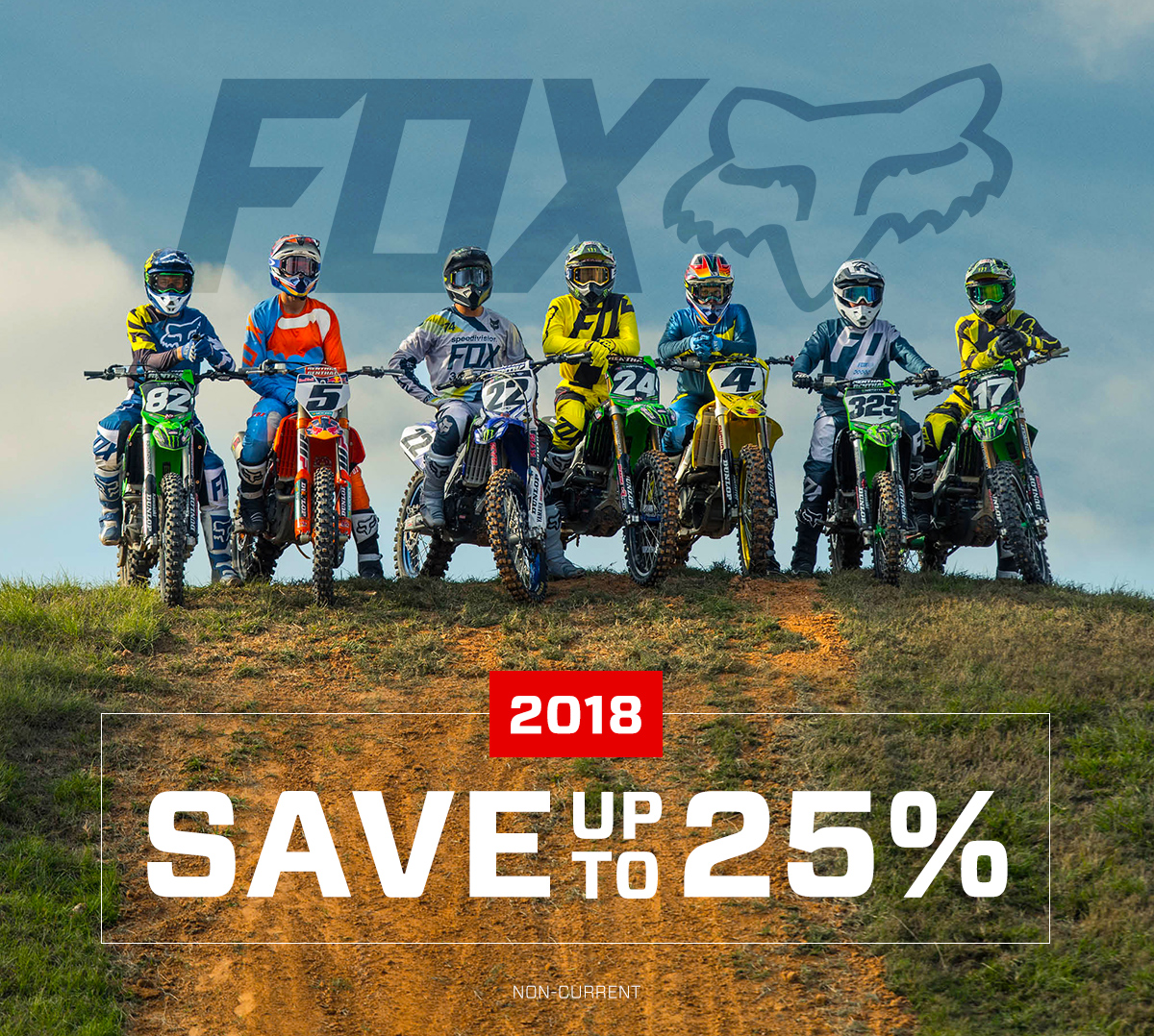 Save Up To 25% On 2018 Fox Racing