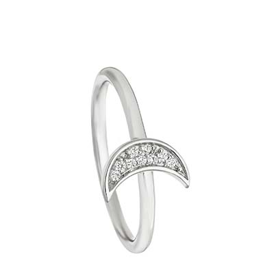 Mini Moon Biography Ring