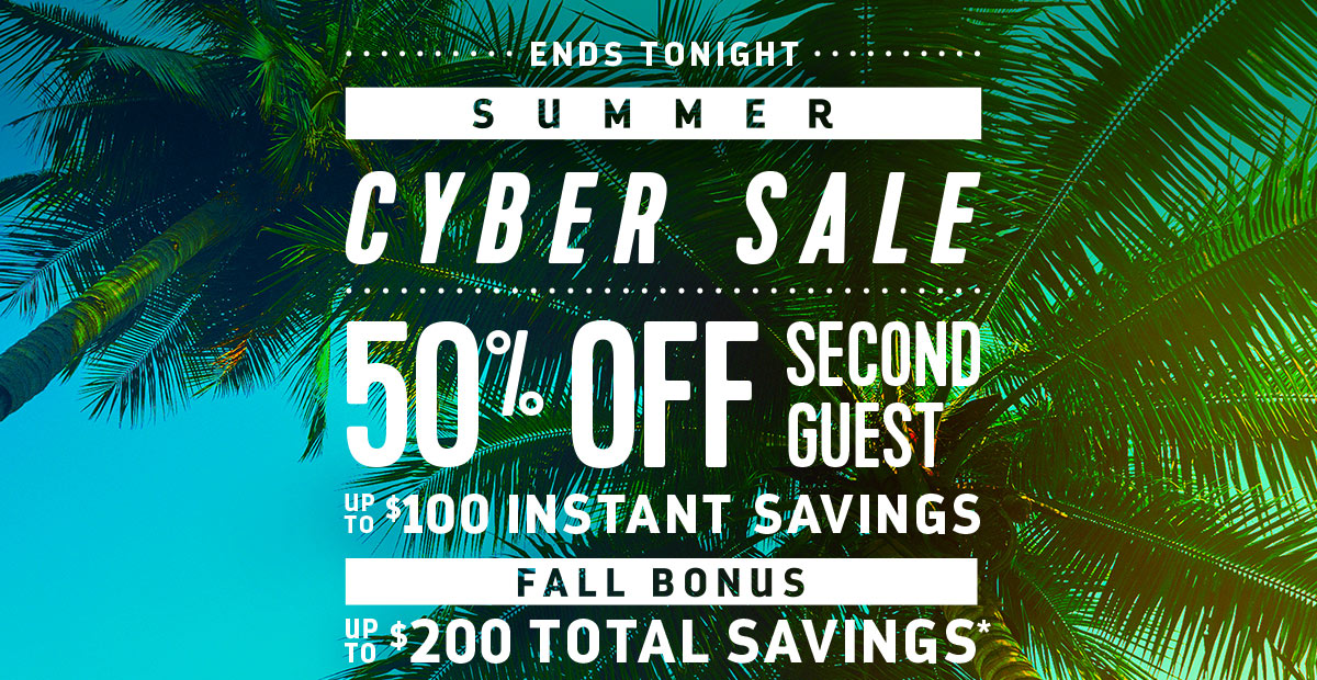 SUMMER CYBER SALE | 50% OFF SECOND GUEST