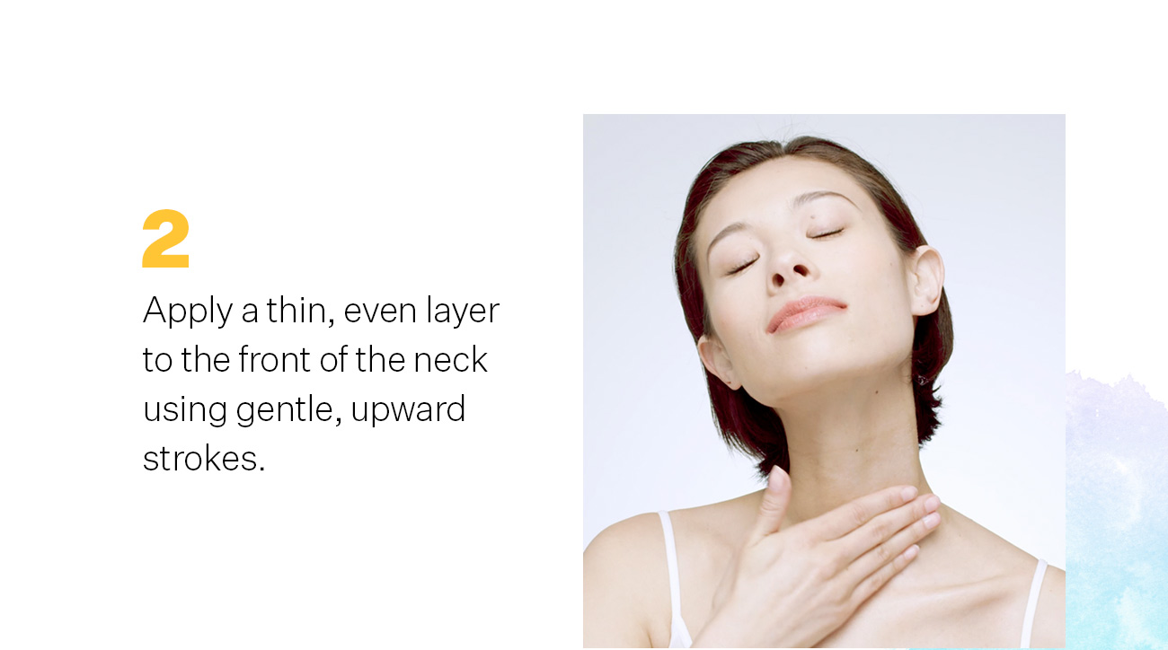 How To Apply TL Advanced Tightening Neck Cream Plus