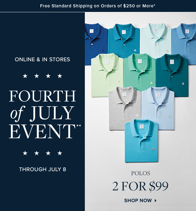 FOURTH OF JULY EVENT | POLOS | SHOP NOW