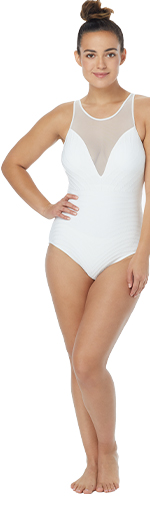 CONTOURS BY COCO REEF SIGNATURE MARQUISE UNDERWIRE ONE PIECE SWIMSUIT - TEXTURE