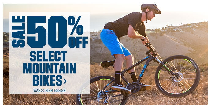 SALE 50% OFF | SELECT MOUNTAIN BIKES > | Was 239.99-999.99