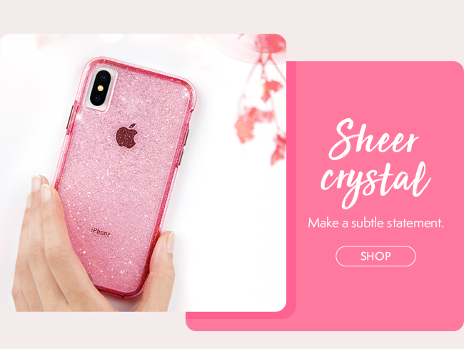 Case-Mate Sheer Crystal Cases